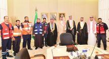 أمير منطقة حائل استقبل معالي رئيس هيئة الهلال الأحمر السعودي