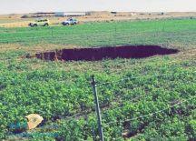 الدفاع المدني: التحقيق في هبوط أرضي أحدث حفرة في مزرعة بساجر