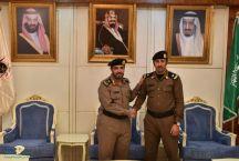 مدير شرطة منطقة حائل يقلد النقيب مرزوق الرشيدي رتبته الجديده ( رائد )