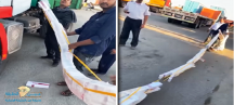 ضبط شاحنة قادمة من الكويت بداخلها 300 كرز سجائر بجمرك الخفجي
