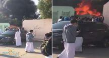 تعليم الرياض يكشف ملابسات اشتعال النار في ثانوية اليمامة ..