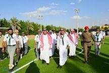 نائب أمير حائل يزور مهرجان التعليم للتربية الكشفية على شارة رؤية وطن