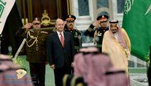 خادم الحرمين الشريفين يستقبل رئيس جمهورية العراق ويقيم مأدبة غداء تكريماً له