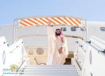 ولي العهد يغادر موريتانيا والرئيس الموريتاني في مقدمة مودعيه