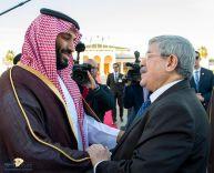 ولي العهد يغادر الجزائر والوزير الأول الجزائري في مقدمة مودعيه