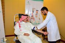أمير حائل يدشن حملة التبرع بالدم ضمن احتفال صحة حائل بيوم الوطن 88  …