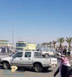 حادث مروري لـــ 3 سيارات عند أحد المساجد بحائل وقت صلاة الجمعة
