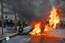 مظاهرات باريس.. مصادمات وإشعال حرائق وسطو على البنوك والمحلات