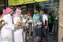"""مطارات الرياض تحتفي بـ""""أخضر الاحتياجات الخاصة"""" بعد التتويج بكأس العالم"""