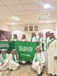 طلاب ثانوية الأجفر في زيارة لمركز إمارة الأجفر