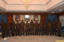 مدير شرطة منطقة حائل يقلد عدد من ضباط الشرطة رتبهم الجديده