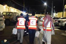 فرع هيئة الهلال الاحمر السعودي بحائل يقوم بزيارة للإستراحات الخاصه التي لم يشملها قرار الايقاف بمدينة حائل