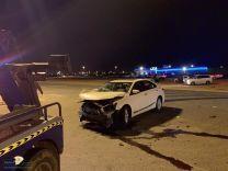 اصابة شخص بحادث مروري بتقاطع النيصية شمال حائل