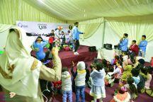 مخيم المديرية العامة لخدمات المياه بمنطقة حائل يستقبل زوار الرالي