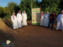 زيارة خبراء زراعيين لمنطقة حائل