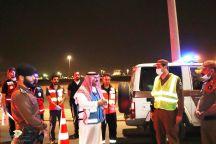 """أطلق فرع هيئة الهلال الأحمر السعودي بمنطقة حائل مبادرة مجتمعية """" رجال الميدان … الشهر عليكم مبارك """""""