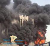 بالفيديو.. حريق ضخم يلتهم مبنى في جامعة الإمام عبدالرحمن بن فيصل