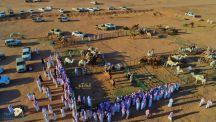دعماً للموروث الشعبي … تم انطلاق فعاليات #مزاد_سلمى_للإبل بقرية البير جنوب شرق منطقة #حائل بنسختة الثالثة يوم الاحد ١٤٤٢/٣/١ هـ ويستمر لمدة خمسة عشر يوماً .