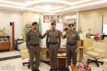 مدير مرور حائل يقلد عدد من الضباط رتبهم الجديده