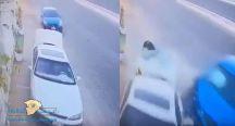 بالفيديو: نجاة شاب من حَادث مروع