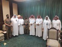 إجتماع وكيل إمارة حائل  للشئون الامنية الاستاذ / عبدالعزيز الصقر مع أعضاء وحدة تنظيم الاستراحات والمنتزهات والمخيمات