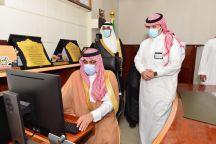 وكيل إمارة حائل يدشن نظام التعاملات الإلكترونية بمركز جبة حائل