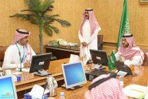 سمو نائب أمير حائل يستقبل مدير بنك التنمية الاجتماعية و مجموعة من الرياديين والرياديات الممولين من البنك بالمنطقة