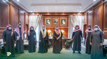 سمو نائب أمير منطقة حائل يستقبل رئيس مجلس إدارة نادي جبة وأعضاء مجلس الإدارة