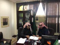 """بالصور .. """" صحيفة عين الحقيقة """" تقيم عقد شراكة مجتمعية مع """" مدرسة الودي الإبتدائية """"بمدينة حائل"""