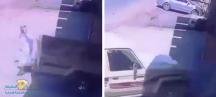الفيديو… جيب شاص يصطدم بشخص بالريوس
