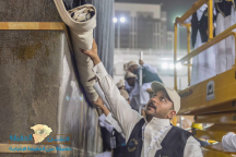 الرئاسة العامة لشؤون الحرمين تباشر إسدال ثوب الكعبة المشرفة