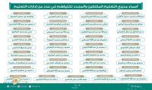 بالأسماء.. وزير التعليم يصدر قراراتٍ بتمديد ونقل وتكليف عددٍ من مديري التعليم