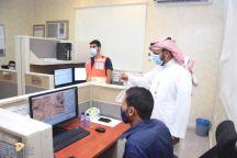 المشرف العام على الشئون الإسعافية بالمركز الرئيسي زار فرع هيئة الهلال الاحمر السعودي وغرفة العمليات بمنطقة حائل