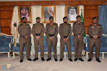 مدير شرطة منطقة حائل يقلد عدد من الضباط رتبهم الجديدة