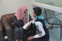 جوالة جامعة حائل بزيارة لمركز الدكتور ناصر الرشيد لرعاية الايتام ودار الرعاية الاجتماعية للمسنين بمنطقة حائل