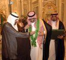محمد وشاح الملك عبدالعزيز #خادم الحرمين يقلد الامير