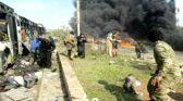 بالصور..عشرات القتلى والجرحى بتفجير في حلب يستهدف تجمع الخارجين من بلدتي كفريا والفوعا