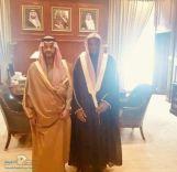 نائب أمير منطقة حائل . يستقبل الداعية الشيخ / متعب بن سليمان الزماي