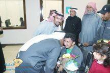 بعد مشاركته في بطولة فزاع الدولية صور لأستقبال اللاعب عبدالرحمن الضبعان