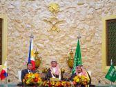 خادم الحرمين الشريفين يعقد جلسة مباحثات رسمية مع رئيس جمهورية الفلبين