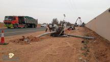 وفاة شخص بعد حادث شنيع على طريق القاعد – التربيّه  وإنشطار سيارته إلى نصفين
