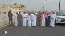 امين #تبوك يفتتح جسر طريق الملك فهد مع الإمام عبد الرحمن بن فيصل ( #ضباء )
