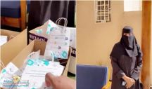 سيدة أعمال توزع كمامات ومعقمات على رجال الشرطة.. وتخصص أسطول سيارتها لتوصيل الطلبات بالمجان!