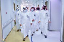 """مدير عام صحة حائل """" الشمري """" في زيارة تفقدية لمستشفى الملك سلمان التخصصي"""