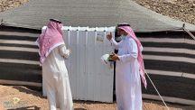 استمرار لجنةازالة المخيمات العشوائية بمنطقة حائل عملها بتبليغ اصحاب تلك المخيمات ابتدا من حي الرصف حتى قصر العشراوات