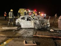 وفاة وعدة إصابات نتيجة حادث طريق الروسان بالجوف