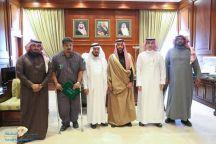 الأمير فيصل بن فهد يستقبل رئيس جمعية حائل الخضراء