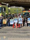 مدني حائل بمحافظات المنطقة أحتفل باليوم العالمي للدفاع المدني