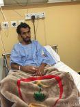 """أعضاء """"صحيفة عين حائل الإخبارية """" في زيارة لرجل الامن المصاب ممدوح خلف الرشيدي"""