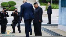 بـ 20 خطوة.. ترامب يدخل التأريخ كأول رئيس أمريكي يطأ أراضي كوريا الشمالية (فيديو)